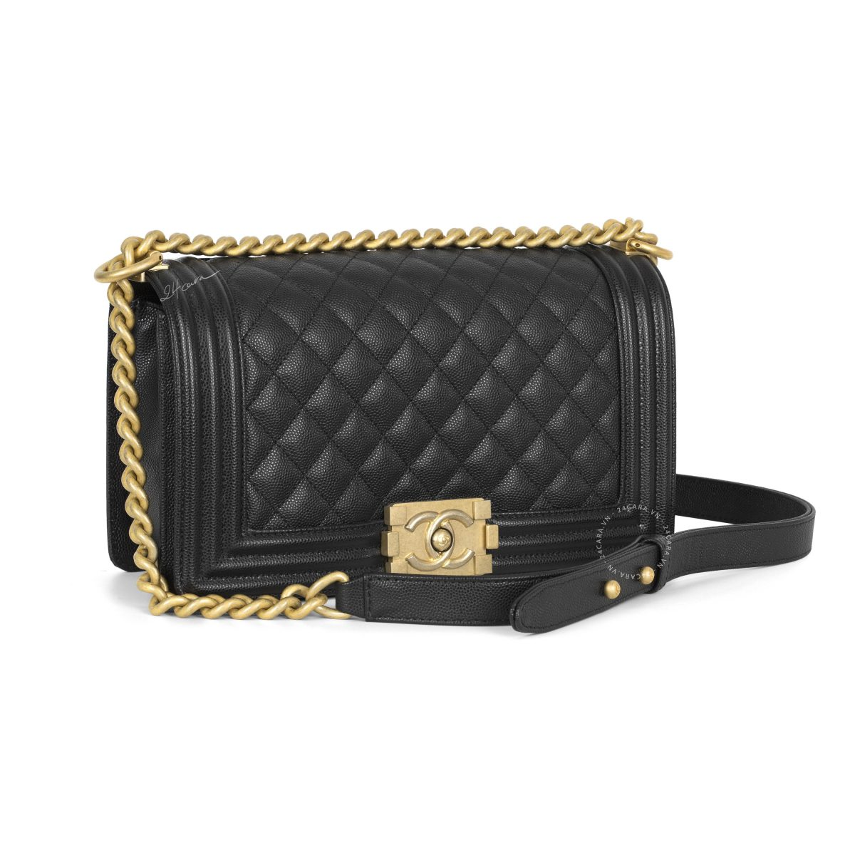 Chanel Boy Caviar Black Medium Bag