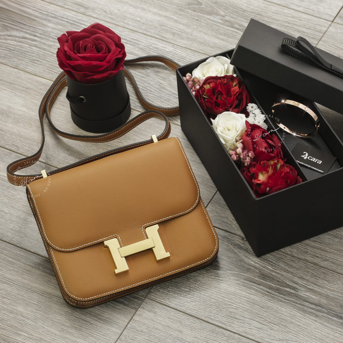 Hermes Constance 19 Gold Togo Leather GHW