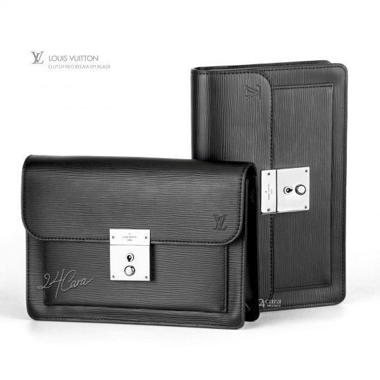 24CARA SPA: Louis Vuitton Clutch Neo Belaila Black Epi 2015