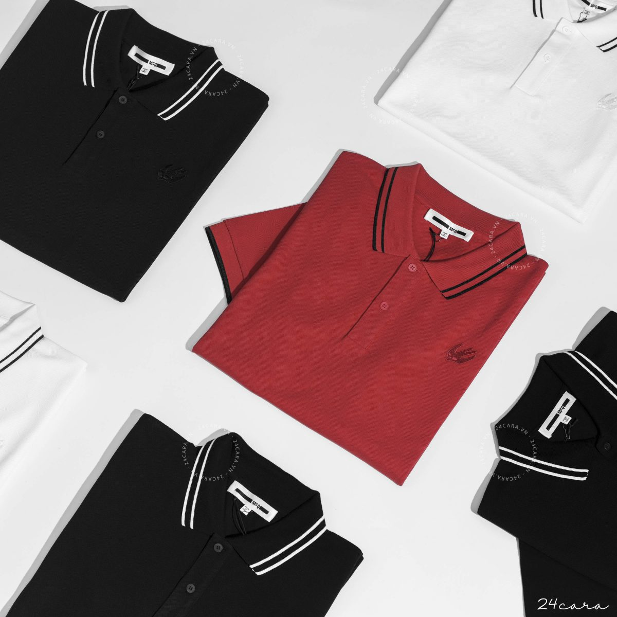 ALEXANDER MCQUEEN SWALLOW POLO SHIRT