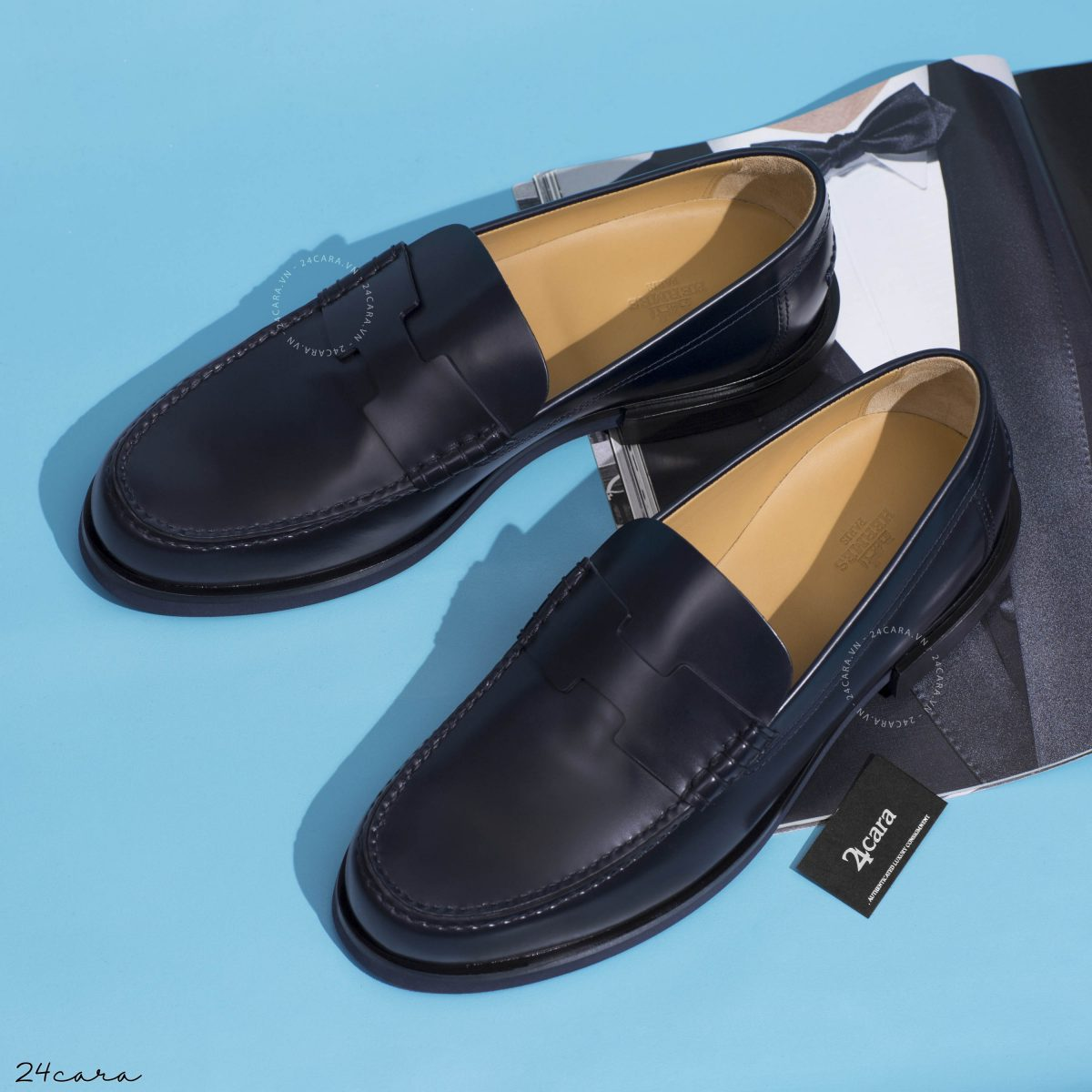 HERMES RONALD TUSCAN LEATHER LOAFER