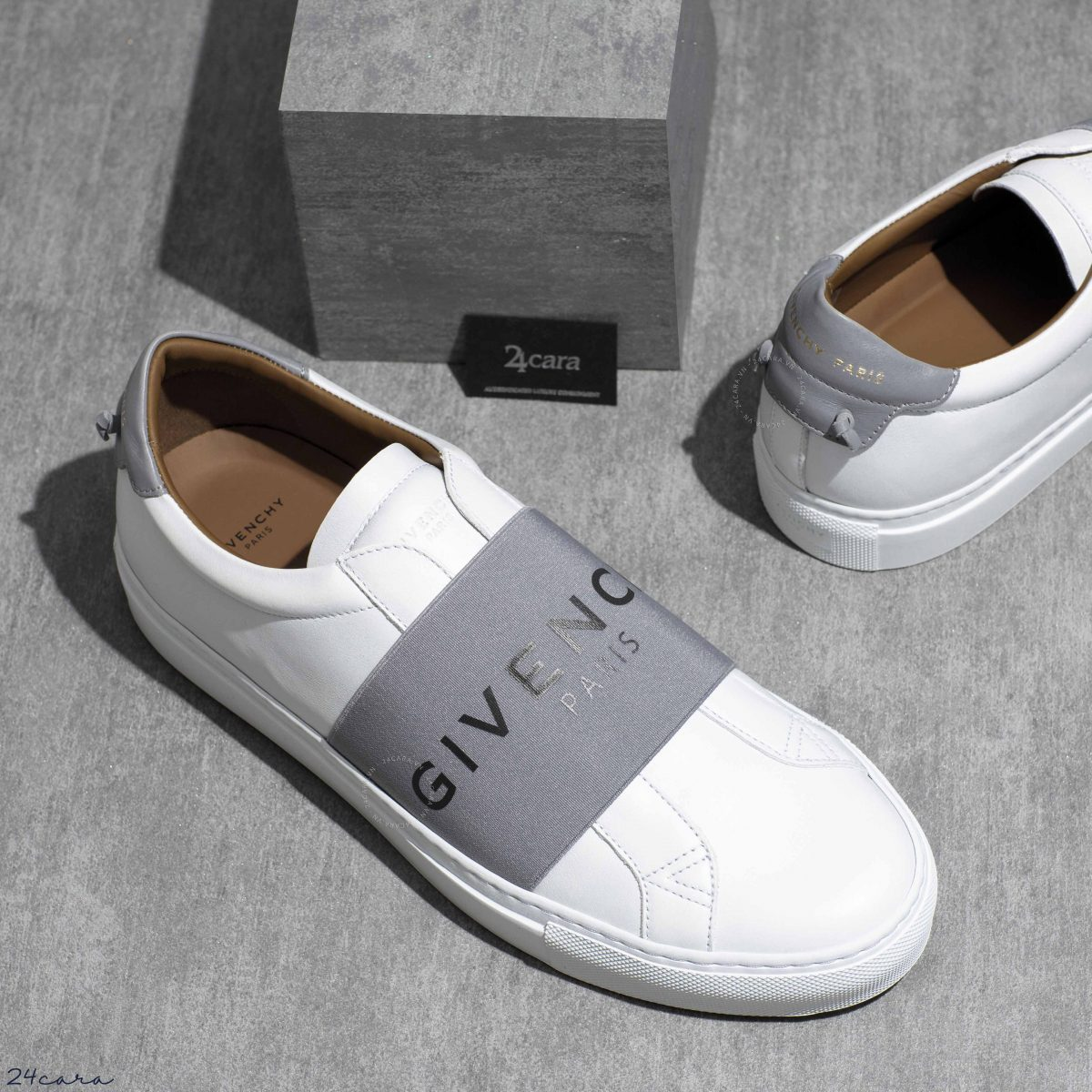 GIVENCHY PARIS STRAP LEATHER SLIP ON