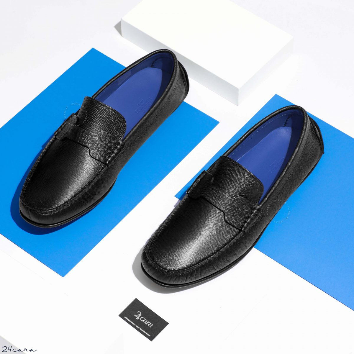 HERMES PACOME EPSOM LEATHER MOCCASIN