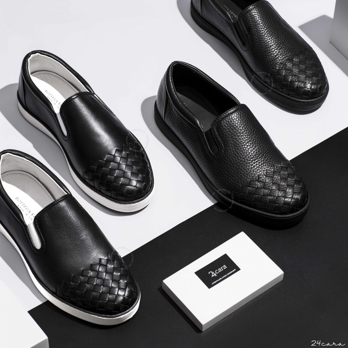 BOTTEGA VENETA INTRECCIATO LEATHER SLIP ON