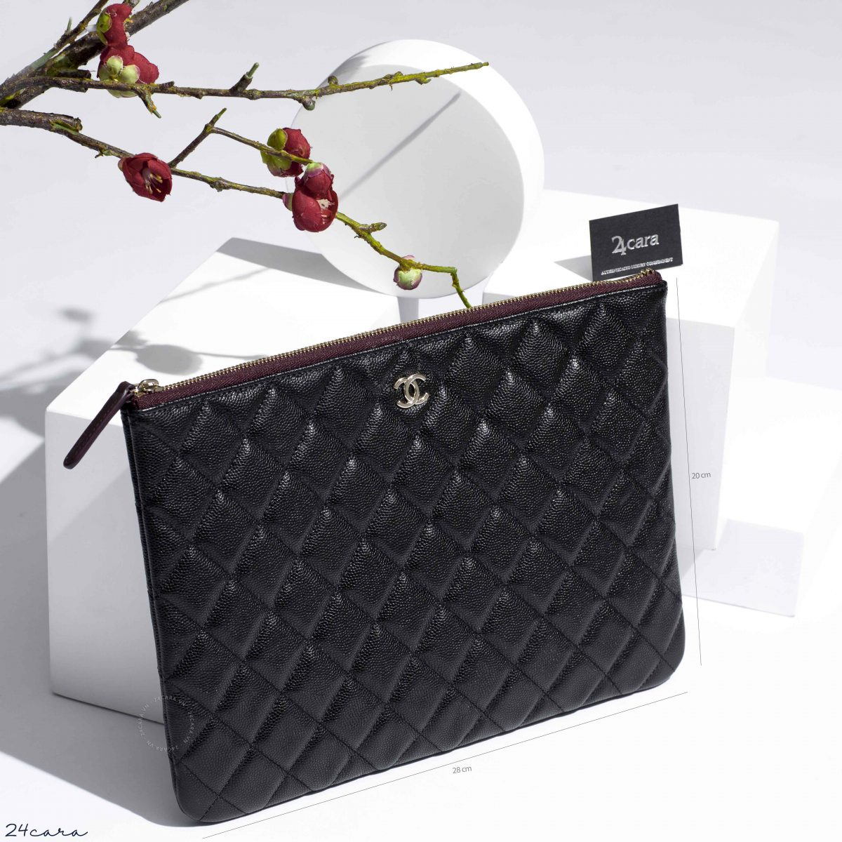 CHANEL CLASSIC BLACK CLUTCH CARVIAR