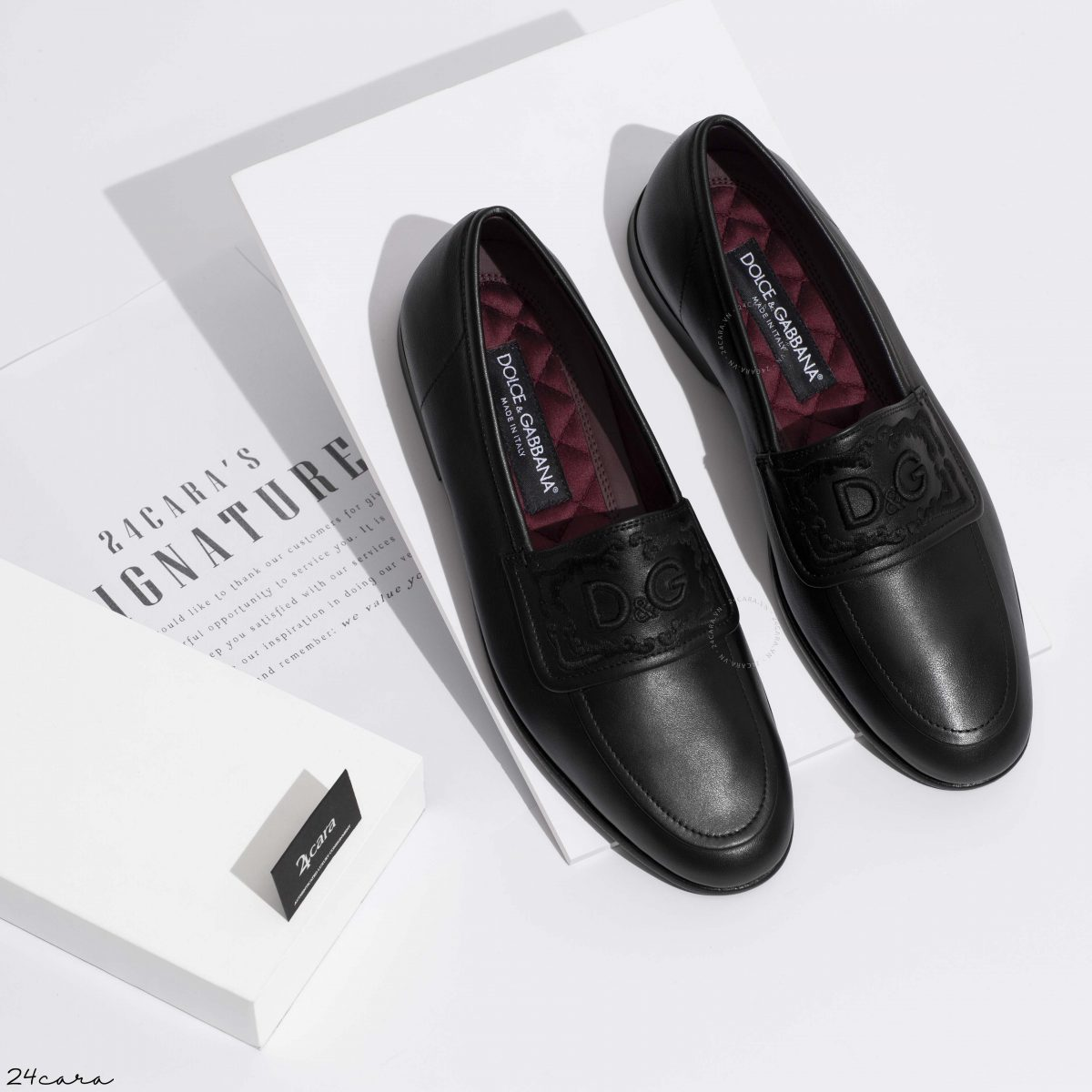 DOLCE & GABBANA MOCCASIN LEATHER U TIPS LOAFER